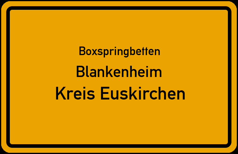Boxspringbetten Blankenheim - Kreis Euskirchen