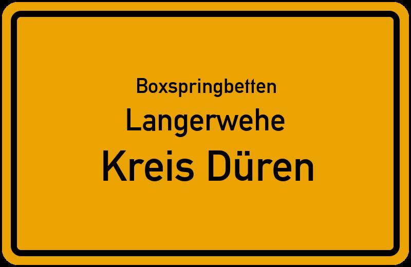 Boxspringbetten Langerwehe - Kreis Düren