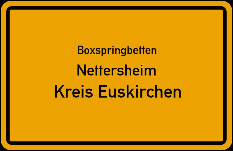 Boxspringbetten Nettersheim - Kreis Euskirchen