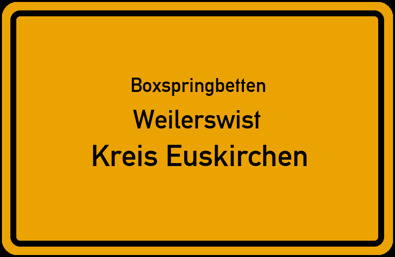 Boxspringbetten Weilerswist - Kreis Euskirchen